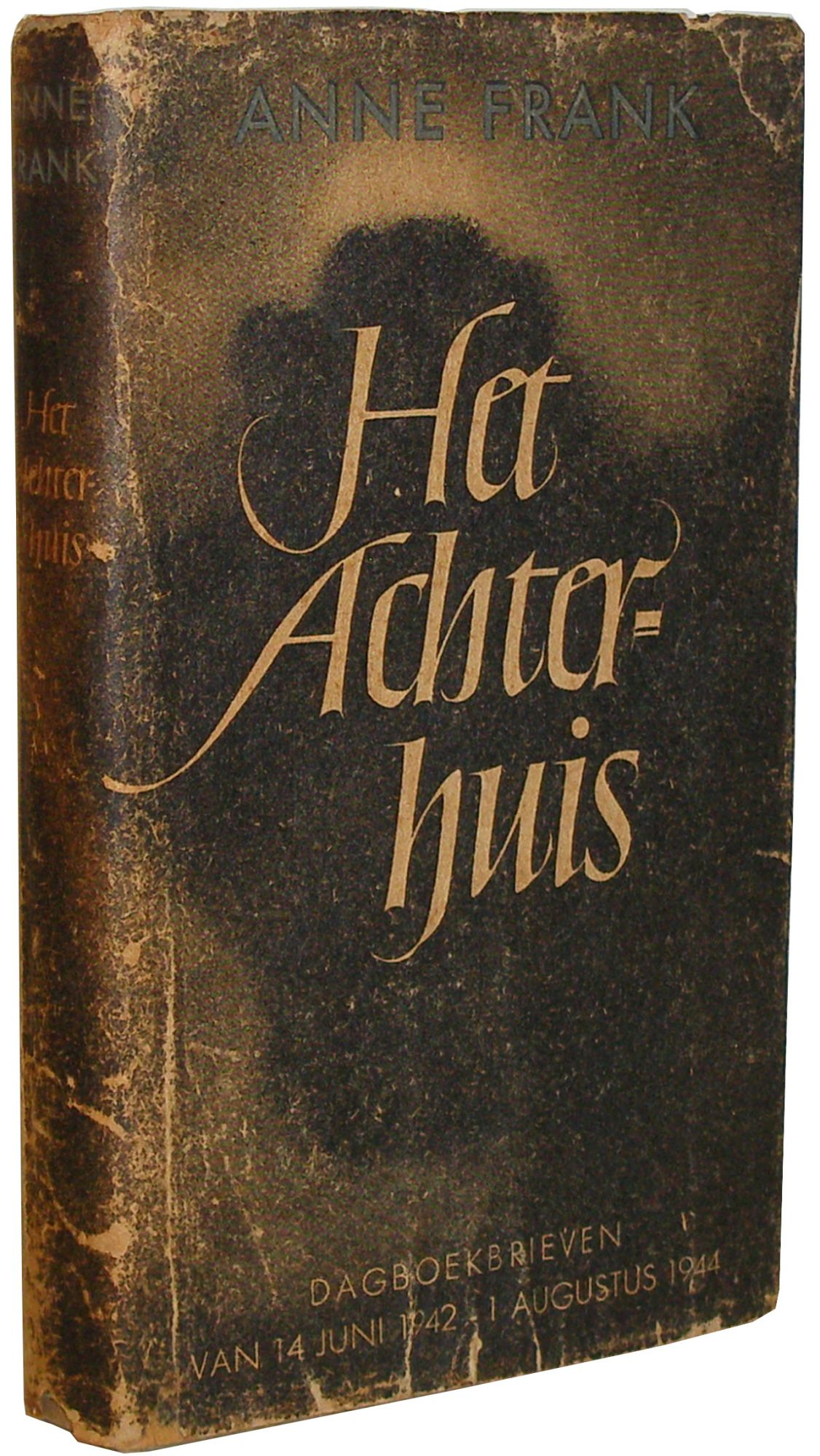 Collection of 188 items including rare unrestored first edition of Het Achterhuis (The Diary of Anne Frank) in original dust jacket, with subsequent 29 editions, translated editions in nine languages, books, periodicals, and Ephemera