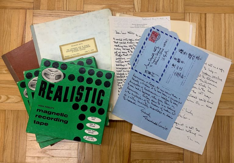 A thesis on American artist Stanton Macdonald-Wright by MFA student and painter Beth Hertz: an archive containing her thesis manuscript, slides of his artwork, letters from the artist, and a transcript and audio recordings of his interview. Stanton Macdonald-Wright, Elizabeth Hertz.
