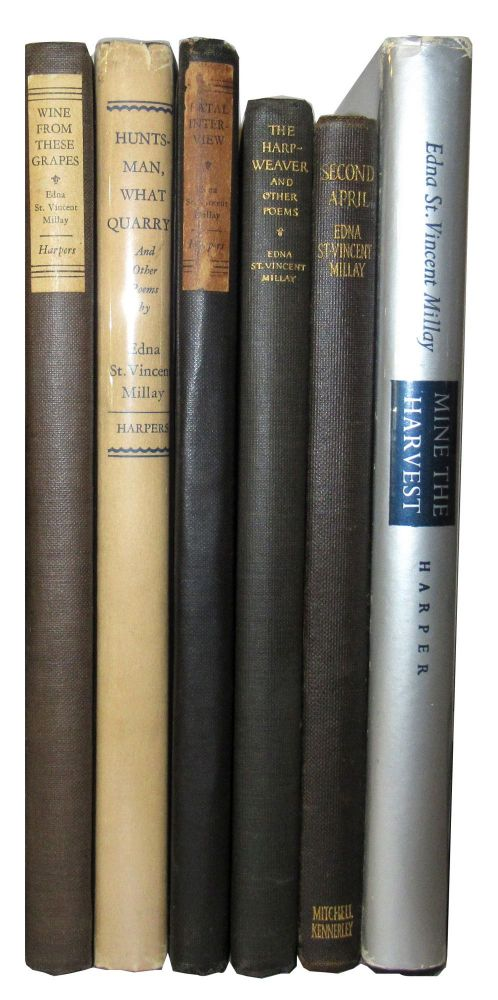 Group of 5 First Editions, with a reprint of Second April. Edna St. Vincent Millay.