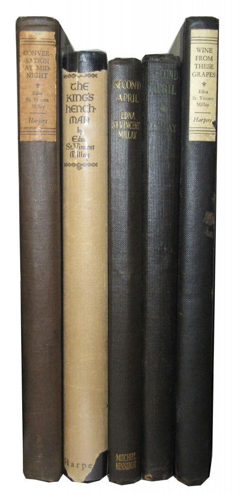 Group of 5 Early Printings of Millay's Works. Edna St. Vincent Millay.