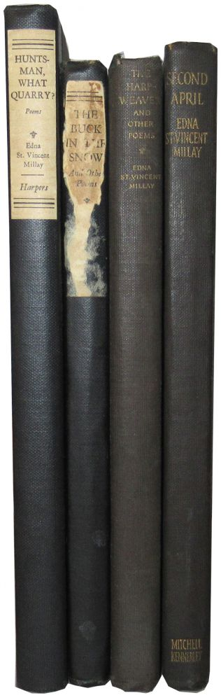 Group of 3 First Editions of Millay's works, with a reprint of Second April. Edna St. Vincent Millay.