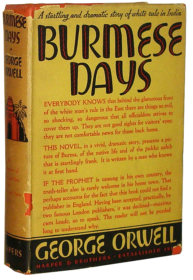 Burmese Days. George Orwell.