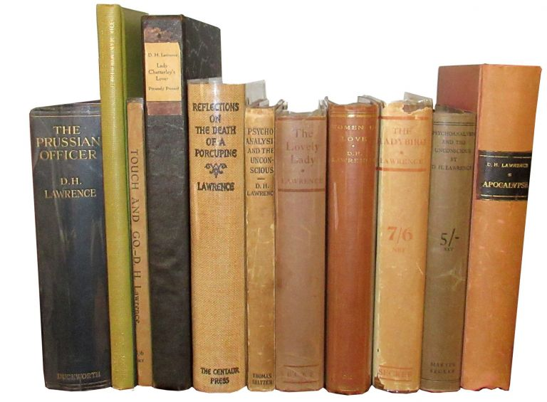 Group of D. H. Lawrence First Editions. D. H. Lawrence.