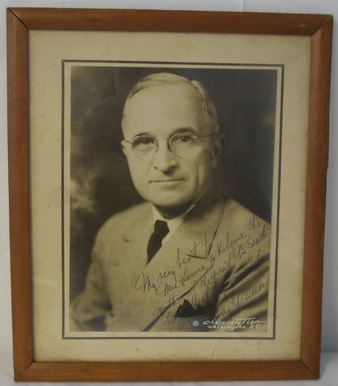 Signed Photograph of Harry Truman. Harry S. Truman.