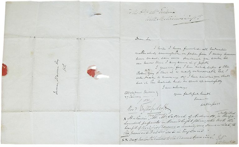 Autograph Letter Signed. Sir Walter Scott.