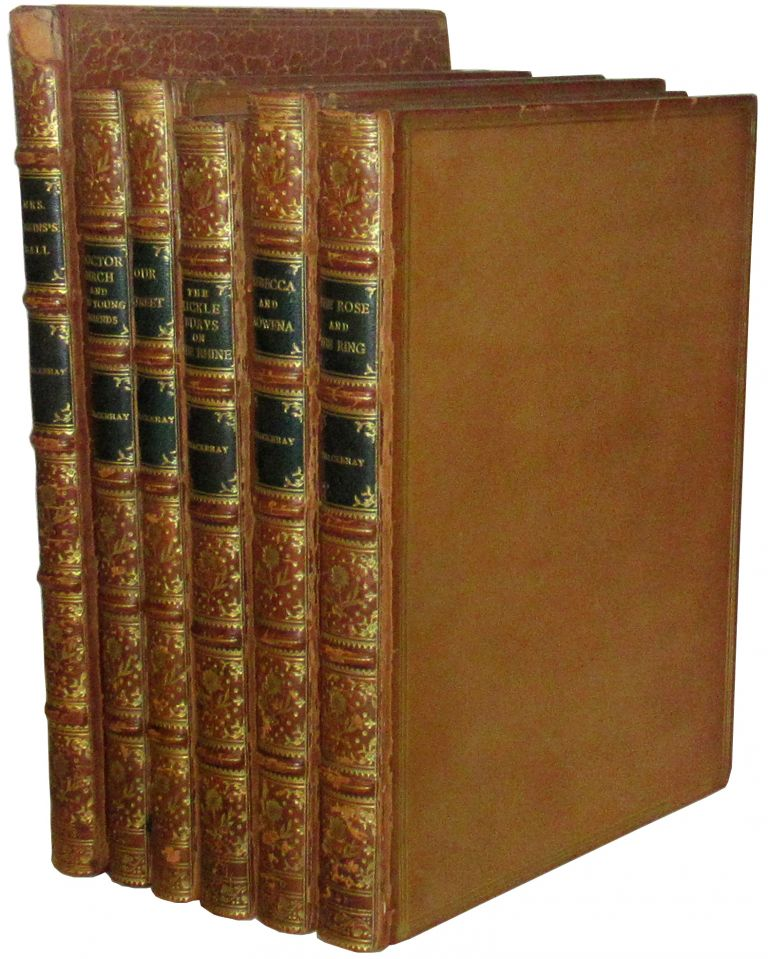 Complete set of Thackeray's Christmas Books (Mrs. Perkins's Ball; Our Street; Doctor Birch and his Young Friends; Rebecca and Rowena; The Kickleburys on the Rhine; The Rose and the Ring). W. A. Titmarsh, William Makepeace Thackeray.
