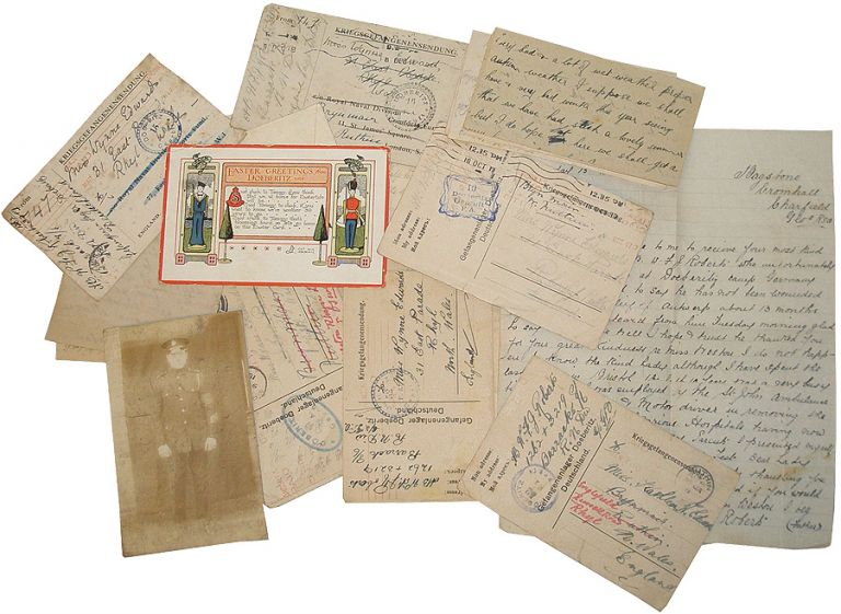 Collection of Letters from POW British Navy Soldier to Welsh Nurse. William F. J. Roberts.