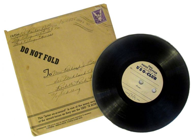 WWII USO Letter on a Record. Richard J. Bozzo.
