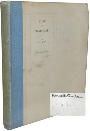Toad of Toad Hall. A. A. Milne, Kenneth Grahame, Alan Alexander
