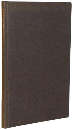 A Bibliography of the First Editions of Books by William Butler Yeats. A. J. A. Symons