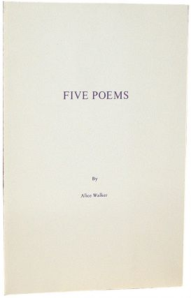 Five Poems. Alice Walker.