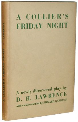 A Collier's Friday Night. D. H. Lawrence, David Herbert.