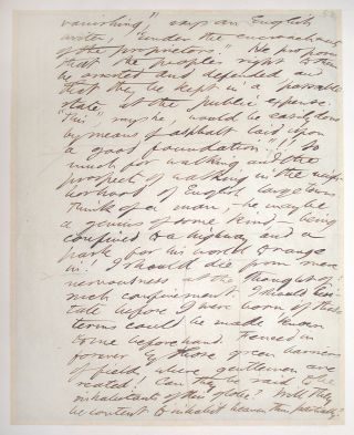Autograph manuscript, Unsigned. Henry David Thoreau