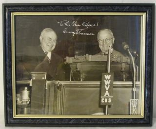 Signed and Inscribed Photograph of Harry Truman and Senator Kilgore. Harry S. Truman.
