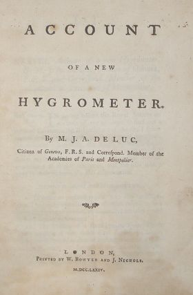 Account of a New Hygrometer