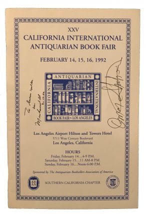 XXV California International Antiquarian Book Fair Program. Muhammad Ali