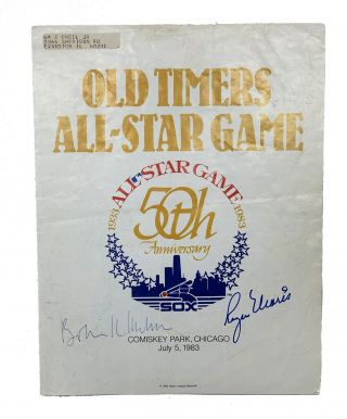 50th Anniversary All-Star Game 1983. Signed By All Participating Players. Old Timer's All-Star Game