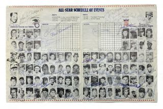 50th Anniversary All-Star Game 1983. Signed By All Participating Players