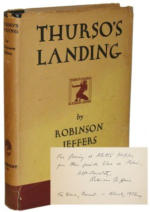 Thurso's Landing, And Other Poems. Robinson Jeffers.