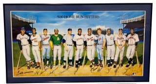 500 Home Run Club Multi-Signed Print. Ron Lewis