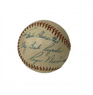 Roger Maris Baseball Inscribed to the New York Yankees' 1961 Team Photographer [with] Roger Maris' Batting Secrets