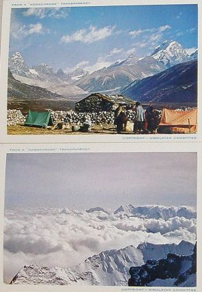 "Six ""Kodachrome"" photographs from the 1953 British Mount Everest Expedition. Alfred; Lowe Gregory, George."