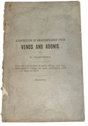 "Adaptation of Shakespeares' Poem ""Venus and Adonis"""