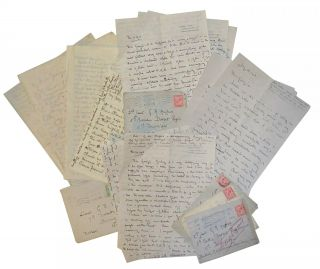Group of letters six addressed to a British Soldier. WWI.