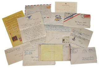 Collection of WWII Correspondence: Letters to and from Six Servicemen from Illinois. Virginia Huber.